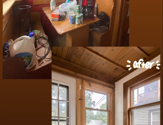 Harrison Breakfast Nook Before and After