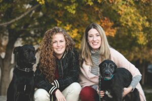 2 women and 2 dogs